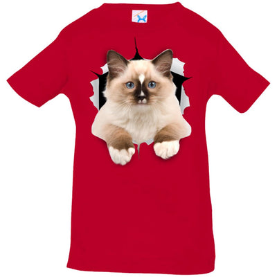 Brown Ragdoll Cat Infant Jersey T-Shirt
