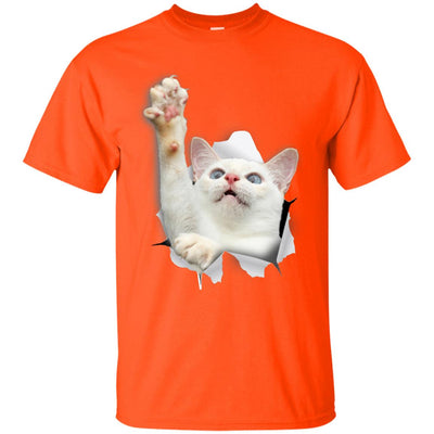White Cat Reaching Ultra Cotton T-Shirt
