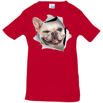 Winking Frenchie Infant Jersey T-Shirt