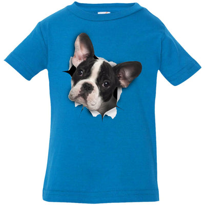 Black & White Frenchie Infant Jersey T-Shirt