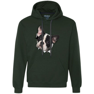 Black & White Frenchie Heavyweight Pullover Fleece Hoodie