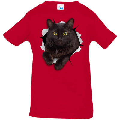 Black Cat Infant Jersey T-Shirt