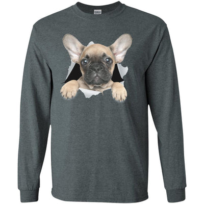 French Bulldog Pup Long Sleeve Ultra Cotton T-Shirt