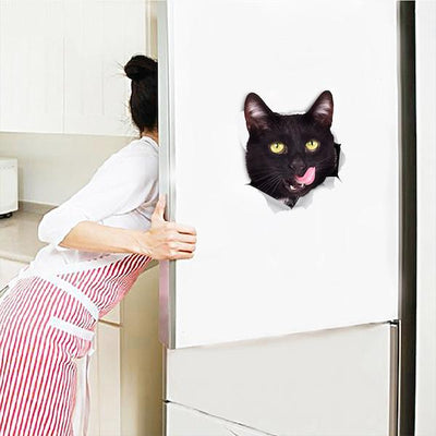 Hungry Black Cat Decals