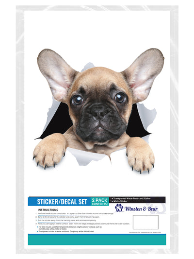 Brown French Bulldog Decals