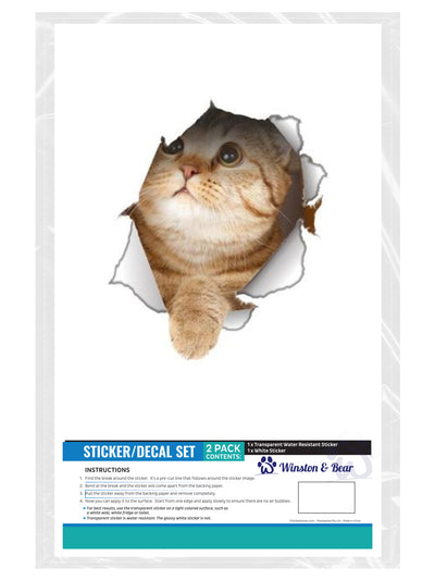 Looking Up Cat Decals