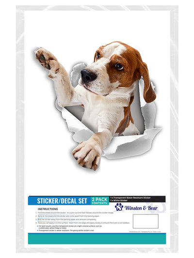 Reaching Beagle Decals