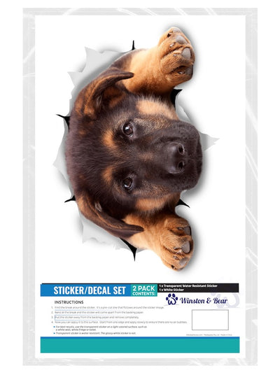 Resting German Shepherd Decals