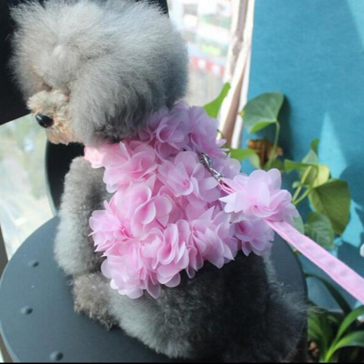 Gorgeous Pink Flower Dog Harness