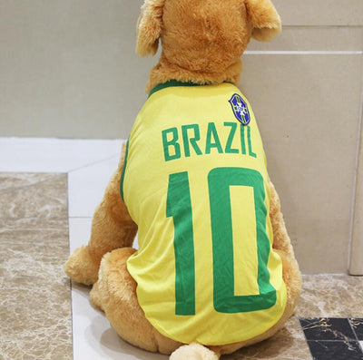 World Supporter Sports Shirts For Large Dogs