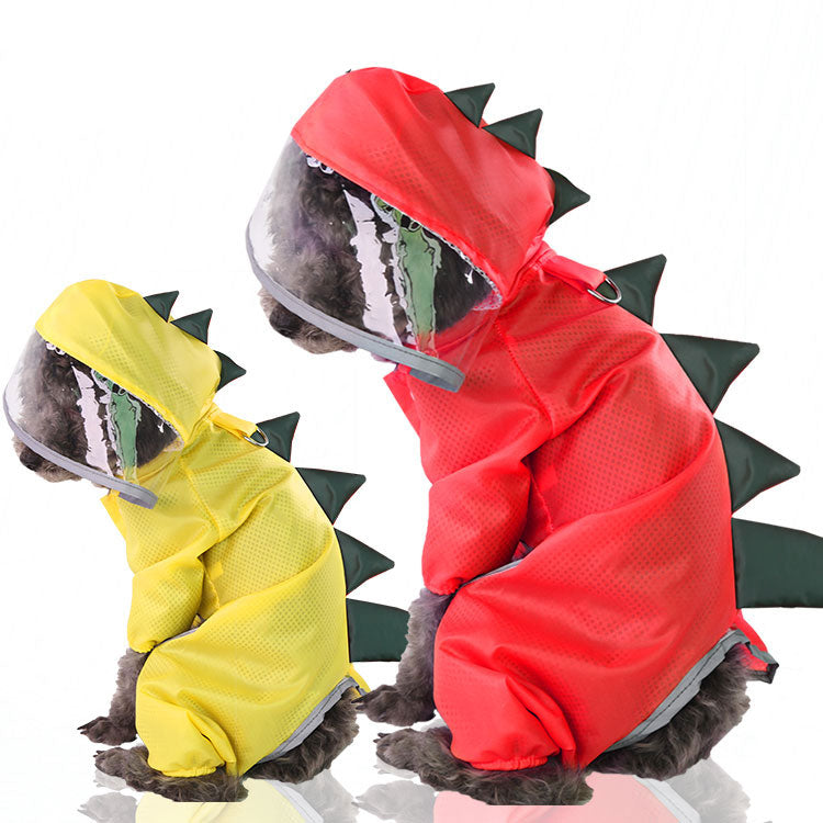 Adorable Pet Dinosaur Raincoat