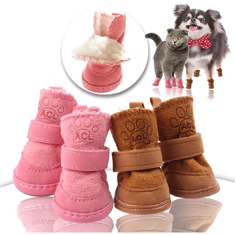 Puppy Snow Booties - Set of 4