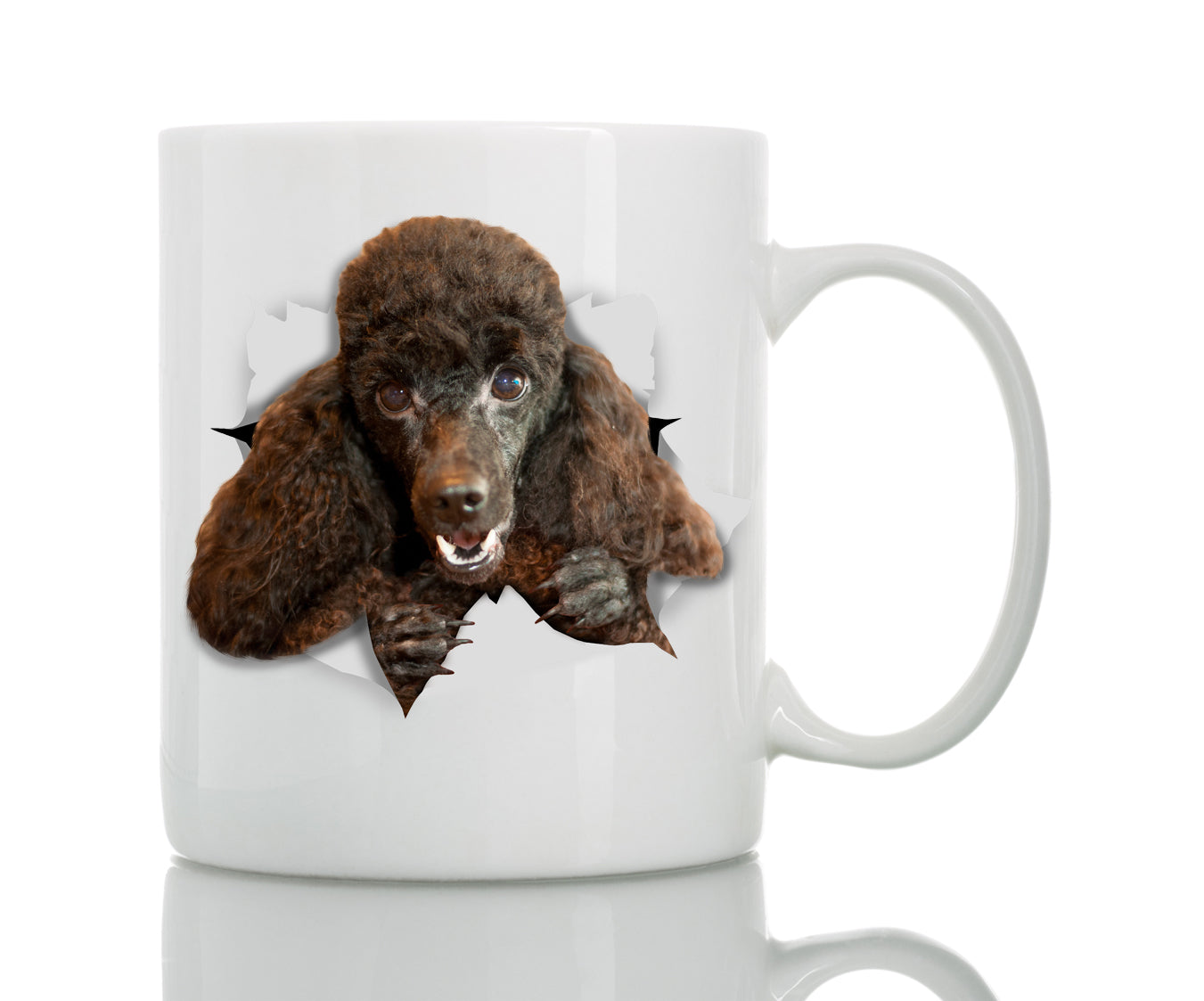 Happy Black Poodle Mug