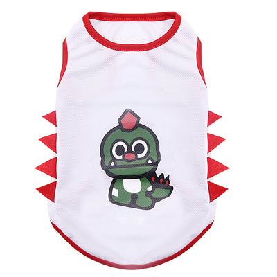 Green Dinosaur Spotted Pet T-shirt
