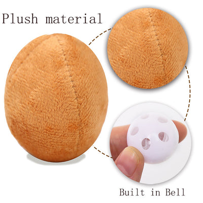 Egg Plush Bell Toy