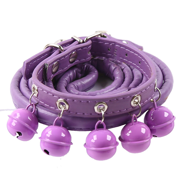 Pet Collar With 5 Bells and Lead