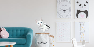 White Kitty Decals