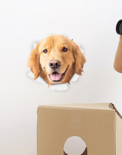 Happy Golden Retriever Decals