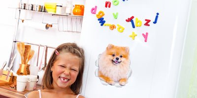 Puffy Pomeranian Decals