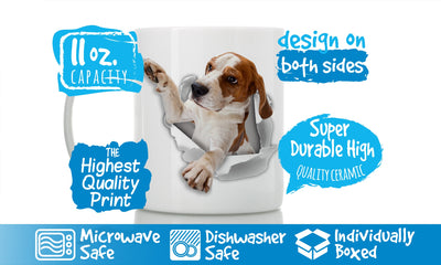 Reaching Beagle Mug