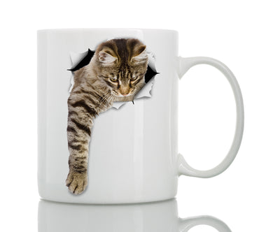 Reaching Tabby Mug