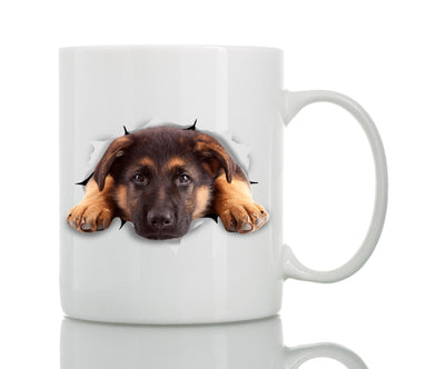 Resting German Shepherd Mug
