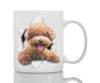 Smiling Brown Poodle Mug