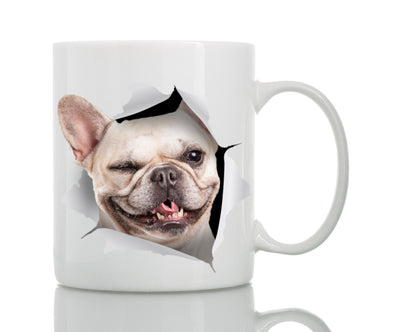 Winking French Bulldog Mug