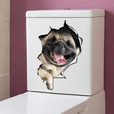 Laughing Pug Decals