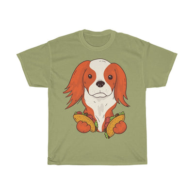 Taco Puppy the Cavalier - Unisex Heavy Cotton Tee