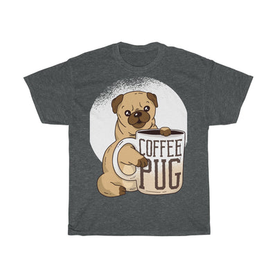 Coffee Pug - Unisex Heavy Cotton Tee