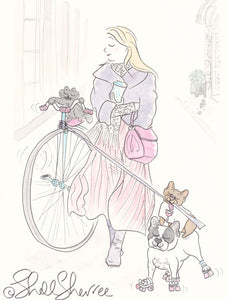A Penny Farthing and Frenchies for Your Thoughts