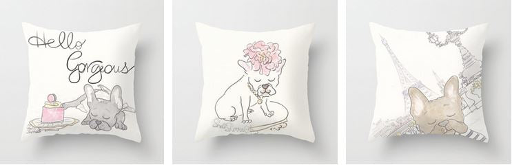 pet throw pillows cushions by shell sherree
