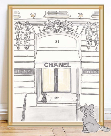 shell sherree paris prints chanel rue cambon