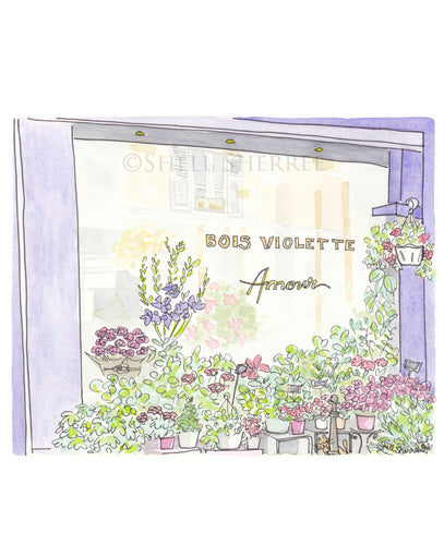 french flower shop paris bois violette art by shell sherree