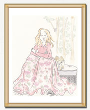 woodland nymphs fashion and animals art print by shell sherree