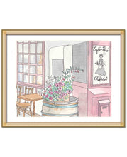 cafe the chocolat Paris cafe art print by shell sherree