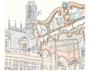 carousel paris hotel de ville art by shell sherree