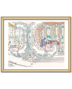 carousel paris tuileries art print by shell sherree