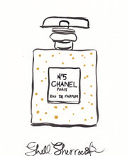 chanel no5 original perfume bottle painting shell sherree