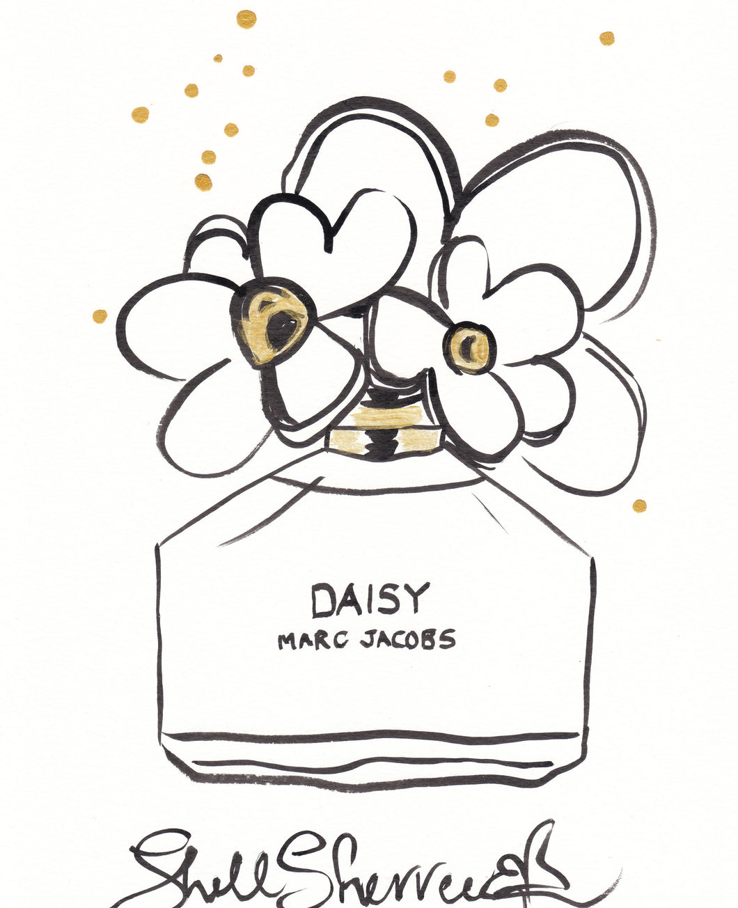 marc jacobs daisy original painting shell sherree
