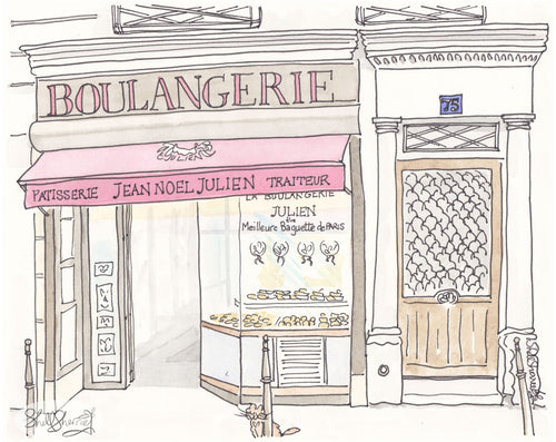 paris boulangerie patisserie jean noel julien art by shell sherree