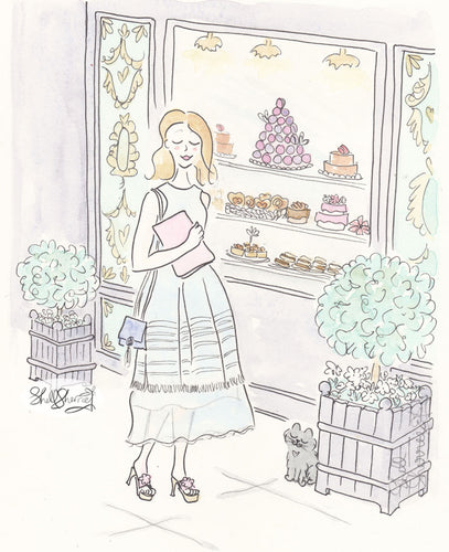 lilac patisserie paris with fashion shell sherree