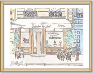paris cafe art pain et chocolat by shell sherree
