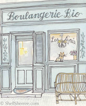 french print boulangerie by shell sherree