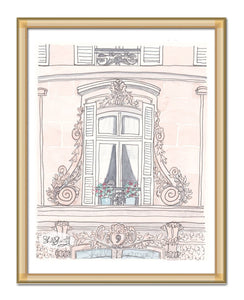 pretty paris window art by shell sherree