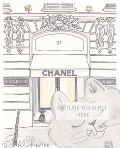 pet portrait cat chanel paris by shell sherree
