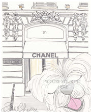 pet portrait dog chanel paris by shell sherree