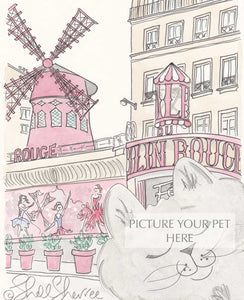 pet portrait cat Moulin Rouge Paris by shell sherree