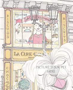 pet portrait terrier shellsherree Paris sweet shop